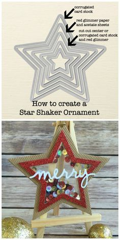 How to create a star christmas tree ornament using the star framelits from Stampin' UP!