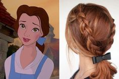 Belle, 'Beauty and the Beast' - Disney Princess-Inspired Hairstyles - Photos Disney Hairstyles, Disney Princess Hairstyles, Pretty Hairstyles, Braided Hairstyles, Short Hairstyles, Toddler Hairstyles, Natural Hairstyles, Wedding Hairstyles, Halloween Hairstyles