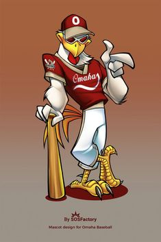 Today I'm going to post 3 sports mascots I created for the USA. This cool rooster was created back in 2007 for a local baseball team in Omaha. By that time didn't color the lineart yet, which make it looking less cartoony. Cartoon Car Drawing, Cartoon Logo, Cartoon Art, Character Drawing, Character Illustration, Character Design, Cartoon Rooster, Power Rangers, Pinturas Disney