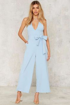 1c174223a5 Nasty Gal Watson Plunging Jumpsuit Fancy Casual Outfits