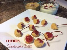I'm thinking these would be great when you think you NEED that sweet treat but you don't want to overdo it. I wonder if they'd freeze ok? Maybe put them on a cookie sheet on wax paper, freeze until set and then put them in a Ziplock baggie and grab a couple as needed....  Cherry Cheesecake Bites  1 cup powdered sugar 1 block of Philadelphia Cream Cheese 1 jar of cherries 1 box of Graham crackers crumbs  Soften cream cheese first. Mix cream cheese with powdered sugar with a hand mixer. Put…