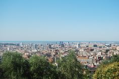 View over Barcelona, from Park Güell