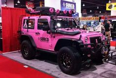 Breast cancer jeep, love it!! ♥ For More Pins like this, Follow us at http://www.pinterest.com/weluvhotgirls ♥
