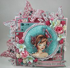 My passion for colors: Especially for you De digi is van Sweet Escape Digi's -Butterflies- Especially For You, Feeling Happy, My Passion, Homemade Cards, I Card, Joy, Stamp, Christmas Ornaments, Holiday Decor