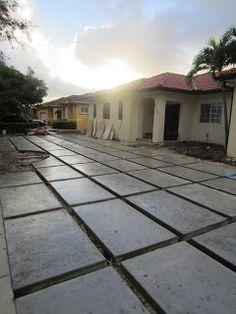 modern concrete driveway like woa terrasse. Black Bedroom Furniture Sets. Home Design Ideas