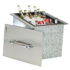 Have to have it. Bull Stainless Steel Built-In Ice Chest - $417 @hayneedle.com
