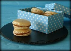 Macarons de vainilla rellenos de dulce de leche