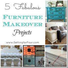 5 Fabulous Furniture Makeover Projects from Setting for Four. #furniture #makeover