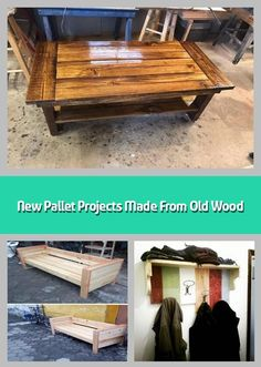 Here come the new pallet projects made from old wood which are amazingly adorable. These new pallet projects aimto boost the elegance of your home. Trendy Furniture, Sofa Furniture, Pallet Furniture, Furniture Ideas, Pallet Wall Decor, Pallet Bench, Old Wood, Pallet Projects, Pallets