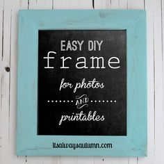 how to build a #DIY wood #frame for photos and printables - this looks really easy! itsalwaysautumn.com