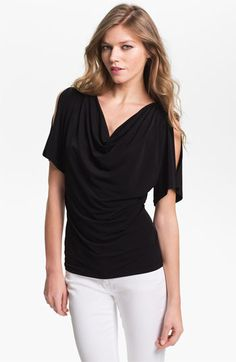 MICHAEL Michael Kors Cold Shoulder Cowl Neck Top available at #Nordstrom