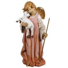 Ángel con cordero 125 cm pesebre Fontanini   venta online en HOLYART