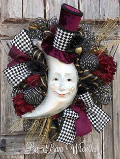 Halloween Mesh Wreath Halloween Wreath Halloween Door Fall