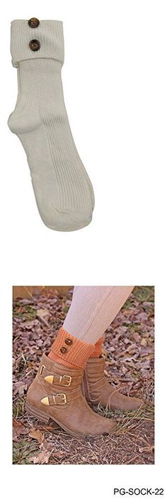 Leg Warmers 163587: Solid Foldover Button Crew Sock Oatmeal Womens Leg Warmers, New -> BUY IT NOW ONLY: $111.99 on eBay!