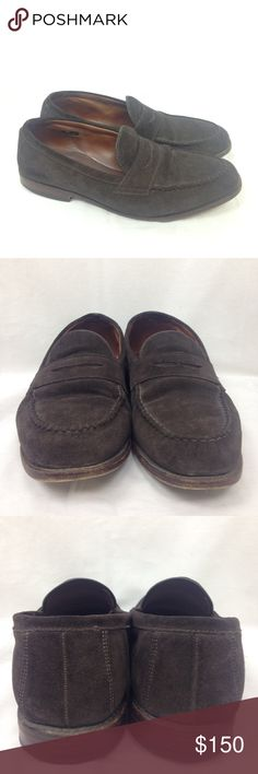 Allen Edmonds McGraw penny loafers size 12 Allen Edmonds McGraw penny loafers size 12 suede leather brown dress shoes made in USA.         MSRP $334. great preowned condition Allen Edmonds Shoes Loafers & Slip-Ons