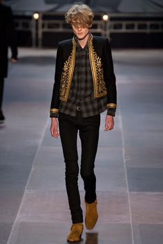 See the complete Saint Laurent Fall 2013 Menswear collection.