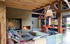 <p>From the pages of Elle Spain via one of our favorite interior design inspiration blogs, check out the gorgeous residence of interior designer Larissa van Seumeren and her partner, Peter Kool. The former barn got a pretty fantastic conversion, with the owners making great use of color! Residing on a 14 hectare slice of heaven…</p>