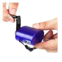 Tiny USB hand crank. For my car emergency kit. Currently only $9.99 (reg. almost 30 dollars), so I decided to give it a go.
