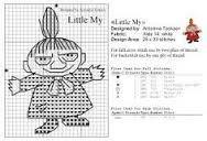 Bilderesultat for little my knitting pattern moomin Cross Stitch Patterns, Knitting Patterns, Crochet Patterns, Cross Stitching, Cross Stitch Embroidery, Les Moomins, Stitch Cartoon, Cross Stitch Bookmarks, Tapestry Crochet