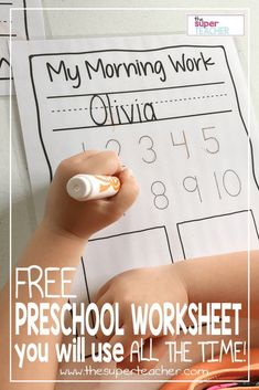 Practice Worksheet For Pre-K Preschool Centers, Preschool Writing, Free Preschool, Preschool Printables, Preschool Classroom, Preschool Worksheets, Preschool Learning, Classroom Ideas, Preschool Teacher Tips