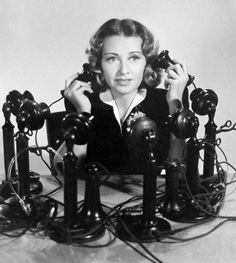 Busy day on the phone  Joan Blondell