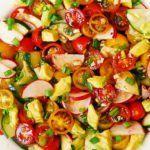 Radish Tomato Avocado Salad with Balsamic Dressing