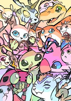 """((I just love this artwork made my ))"" Digimon 02, Digimon Tamers, Digimon Crests, O Pokemon, Pokemon Cards, Pokemon Fusion, Geeks, Digimon Wallpaper, Gatomon"