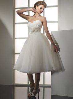 Robe de mariée 2011 mi-longue pure et simple
