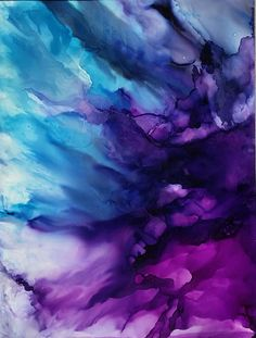 Original alcohol ink painting alcohol ink art by InksAliveStudio