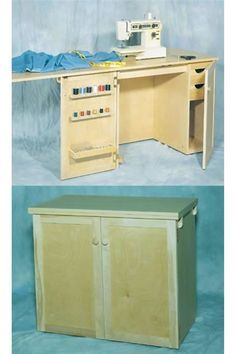 Deluxe Sewing Center Plan | Sewing cabinet, Star and Sewing rooms