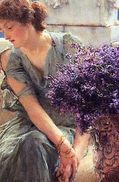 An Unwelcome Confidence (1895)- Sir Lawrence Alma-Tadema - (detail)