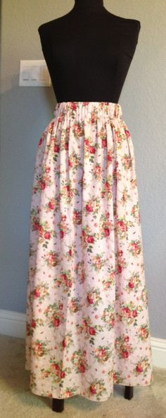 Tutorial Maxi skirt.... and took about 20 minutes to sew!
