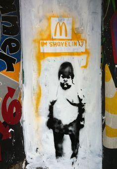 ~ banksy style graffiti ~ Stockport