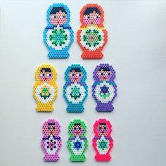 Russian dolls/Matryoshkas hama beads by perlepige