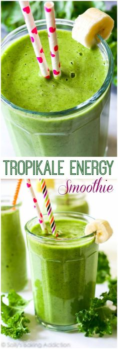 A simple 4 ingredient, incredibly thick green smoothie   Highly recommended with Califia Unsweetened Almondmilk
