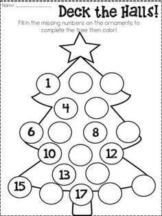 Christmas Dot to Dot: Tree | Worksheets, Christmas characters and ...
