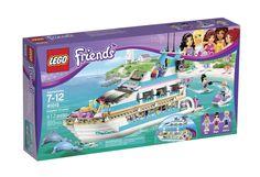 LEGO Friends Dolphin Cruiser Cruise Ship Boat Yacht Dolls Shower Waterslide NEW #LEGO