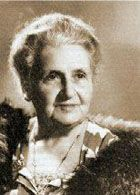 """''Maria Montessori, born in 1870, was the first woman in Italy to receive a medical degree. She worked in the fields of psychiatry, education and anthropology. She believed that each child is born with a unique potential to be revealed, rather than as a """"blank slate"""" waiting to be written upon. Her main contributions to the work of those of us raising and educating children.''"""