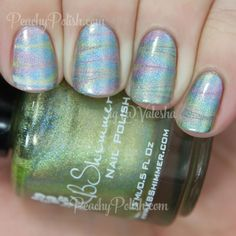 KBShimmer Holographic Watermarble | Peachy Polish