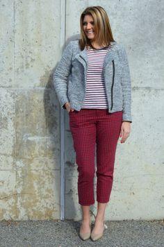 stripes with polka dot pants