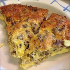 Crustless Sausage & Cheese Quiche | sub some HWC for the milk