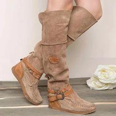 US$ 57.99 - Women Casual Comfy Mid-Calf Boots - www.insboys.com Long Boots, Mid Calf Boots, Knee High Boots, Over The Knee Boots, Wedge Heel Boots, Flat Boots, Heeled Boots, Suede Boots, Moccasin Boots