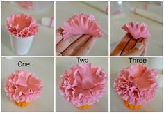 Copcakes: Simple Fondant Carnation Tutorial
