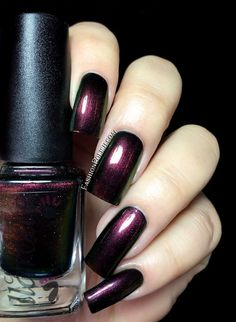 Fashion Polish: Colors Llarowe Fall collection part 1 : the shimmers and glitters - Sphynx (LE) Fabulous Nails, Perfect Nails, Gorgeous Nails, Nail Polish Art, Nail Polish Colors, Cute Nails, Pretty Nails, Deep Red Nails, Les Nails