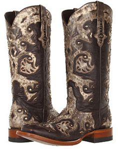 Ladies Lucchese Horseman Studded Scarlett Cowgirl Boot