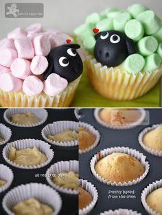 Marshmallow Sheep Cupcakes Recipes