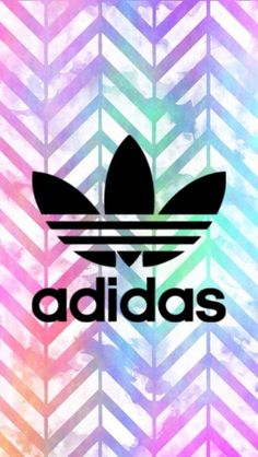 Adidas // Fond d'ecran // Iphone Wallpaper // Tendance // Logo // Fashion arc en ciel coloré