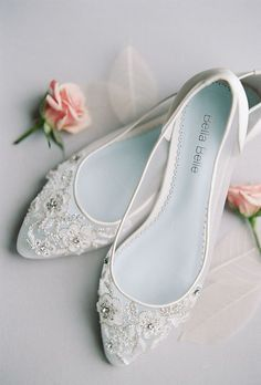 Officially The Most Gorgeous Bridal Shoes ❤ See more: http://www.weddingforward.com/gorgeous-bridal-shoes/ #weddings #weddingshoes