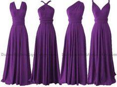 Purple multiwrap dress ideas