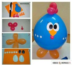 chicken-ballon-praktic-ideas - Find Fun Art Projects to Do at Home and Arts and Crafts Ideas Barnyard Party, Farm Party, Crafts For Kids, Arts And Crafts, Diy Crafts, Cute Chickens, Cowboy Party, Cool Art Projects, Farm Birthday